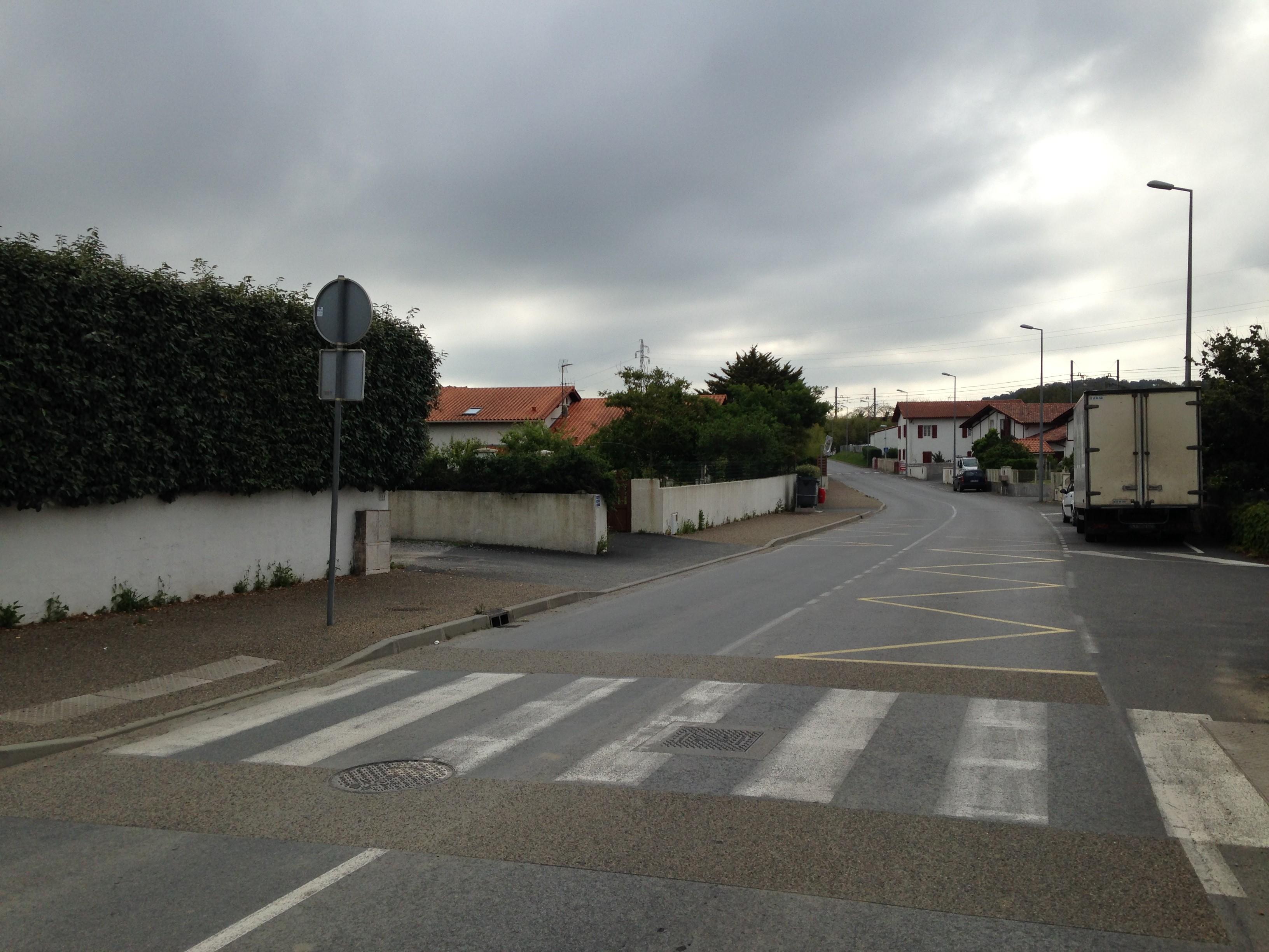 Rue de la Gare à Bidart