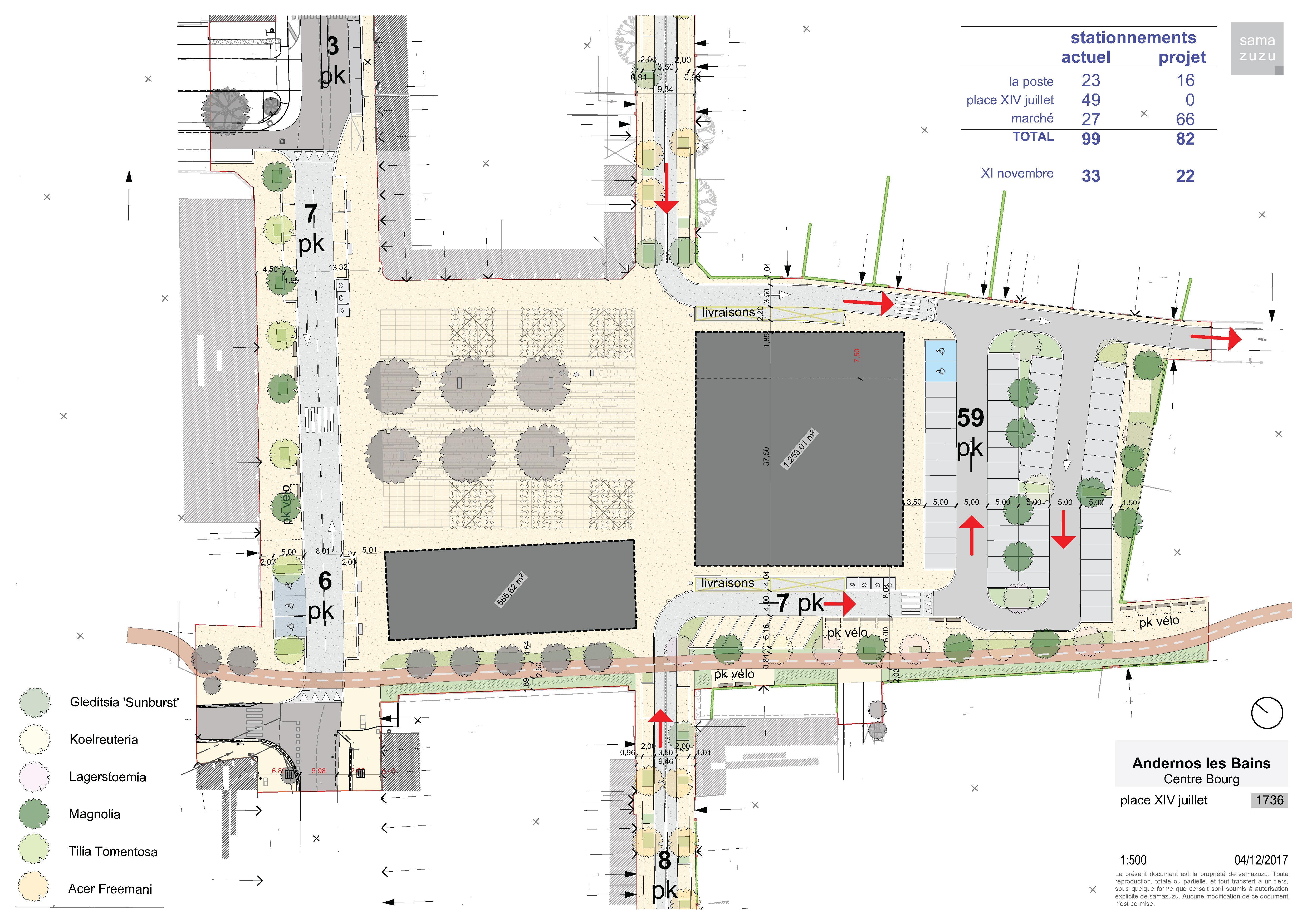 Aménagement de la Place du 14 Juillet - ANDERNOS